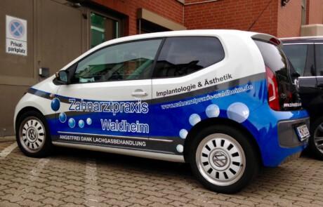 Fahrzeugfolierung von Kleinwagen
